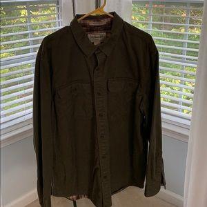 LL Bean flannel lined shirt